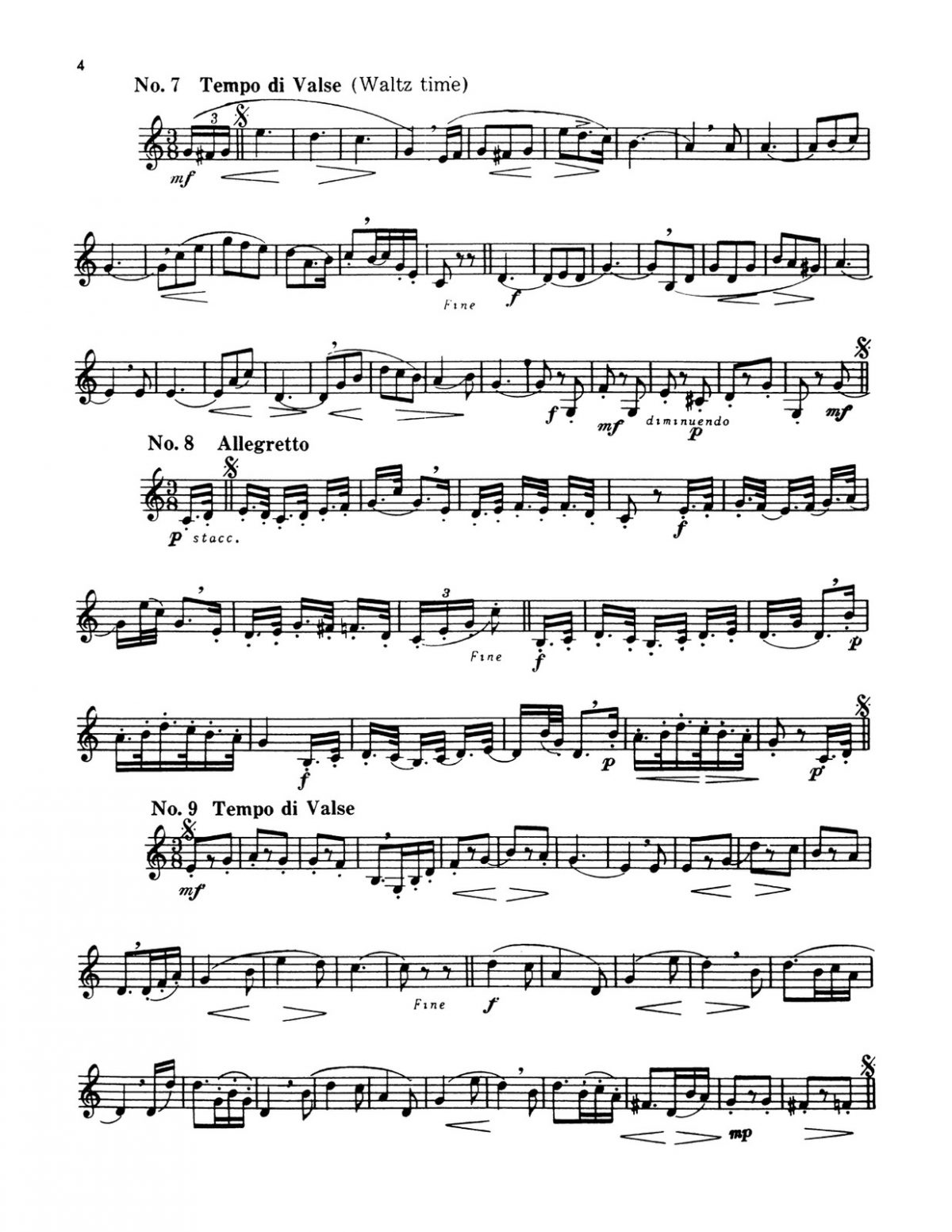 Pottag, Preparatory Melodies to Solo Work for French Horn-p04