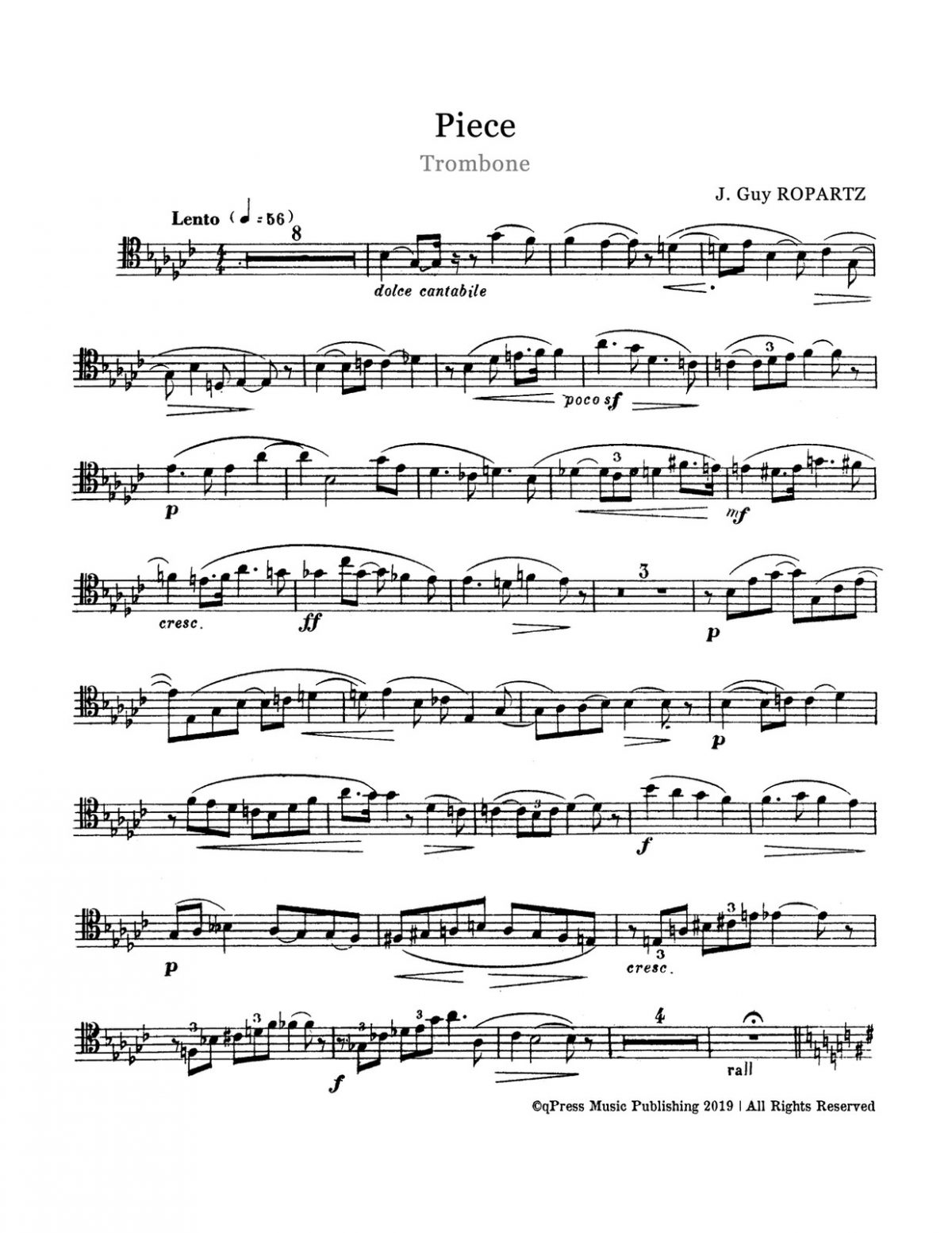 Ropartz, Piece for Trombone and Piano-p03