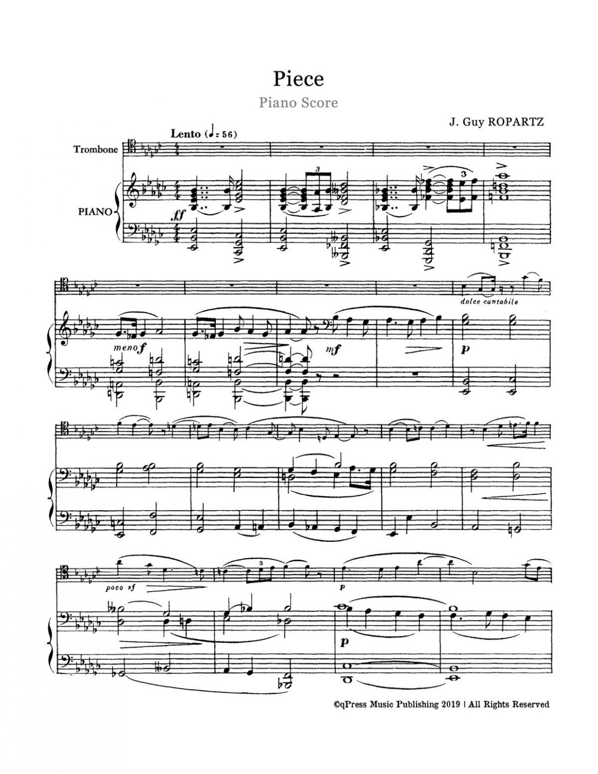 Ropartz, Piece for Trombone and Piano-p08