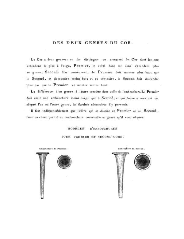 Methode pour le cor