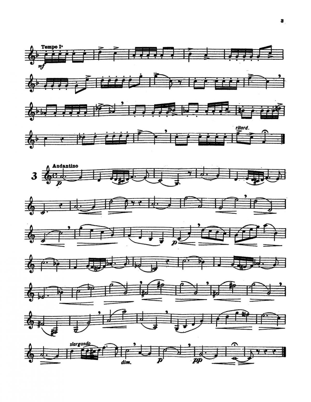 Michiels, 24 Etudes for Horn p03