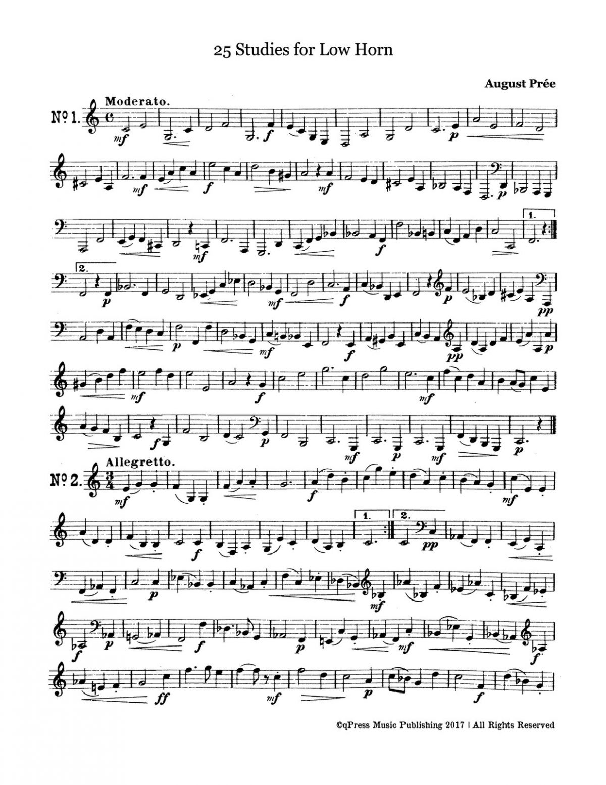 Prée, 25 Studies for Low Horn-p04