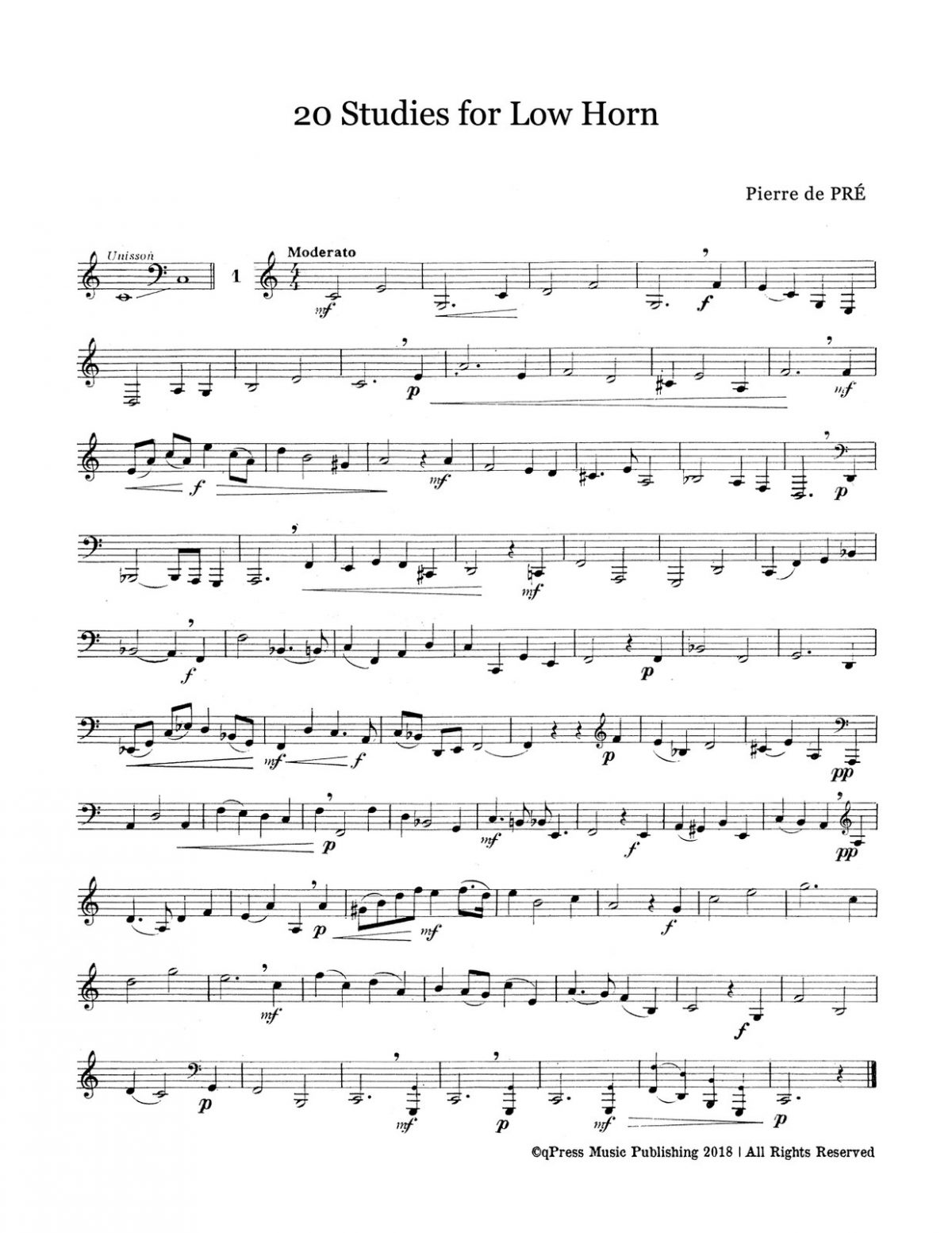 Pre, 20 Studies for Low Horn-p03