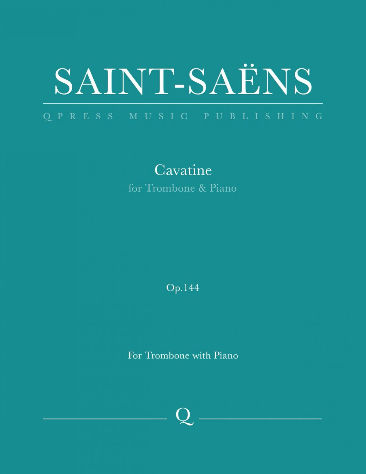 Saint-Saens, Cavatine for Trombone and Piano-p01