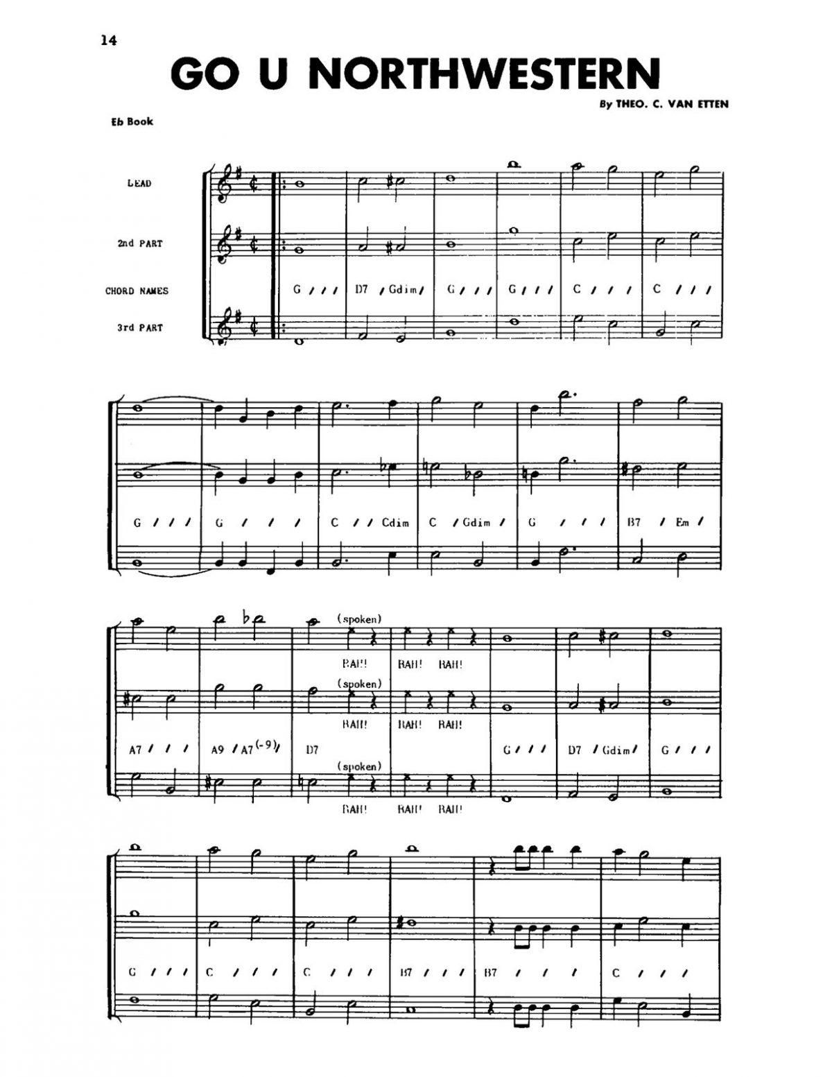 Warrington, Big 10 College Songs Eb-p16