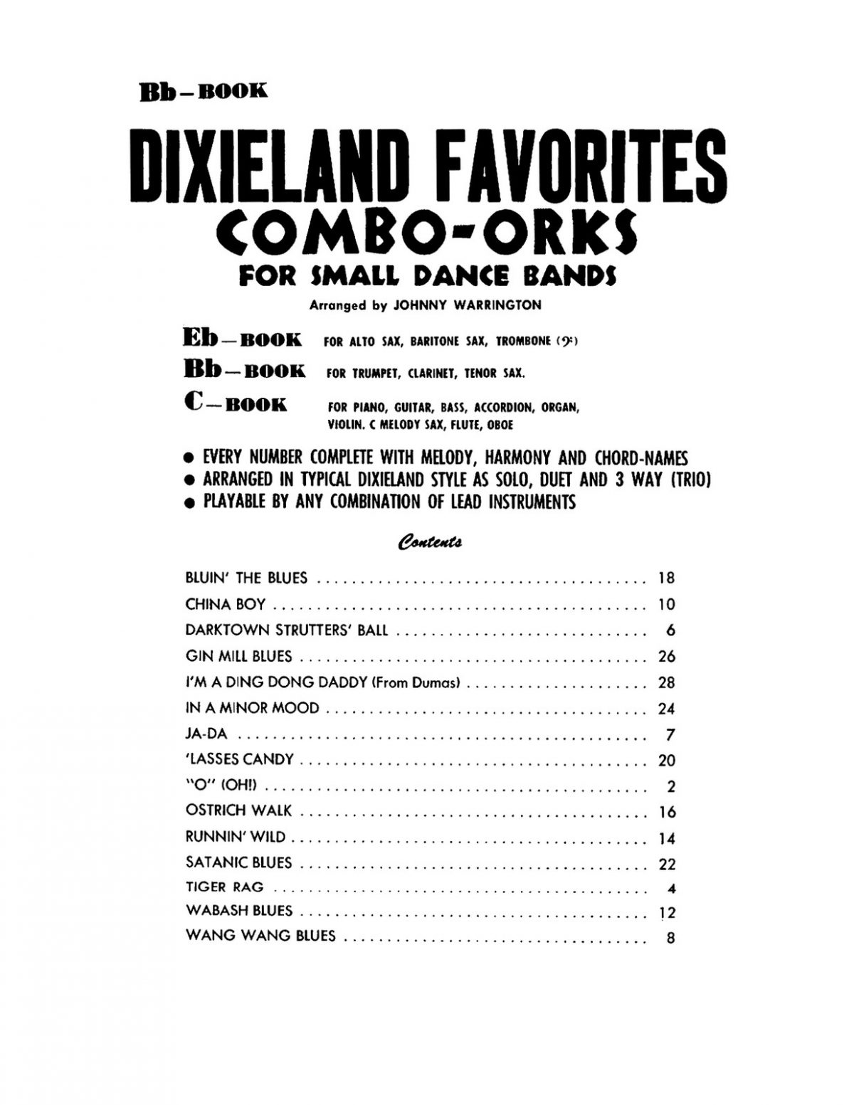 Warrington, Dixieland Favorites Bb-p03