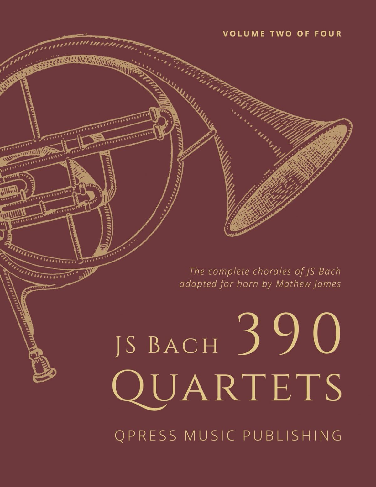 Bach-James, 390 Quartets of J.S. Bach for French Horn Vol.2-p001