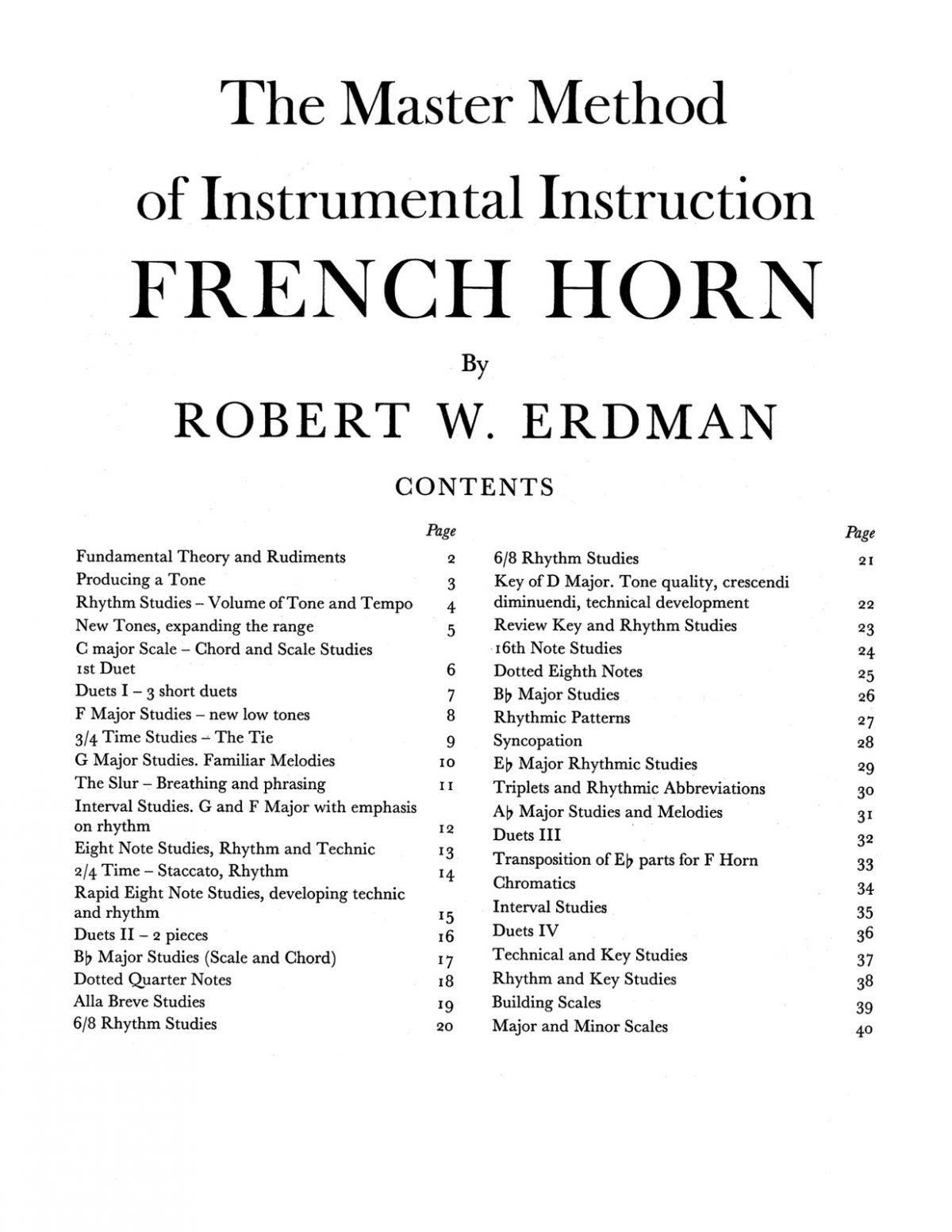 Erdman, Robert, The Master Method for French Horn-p03