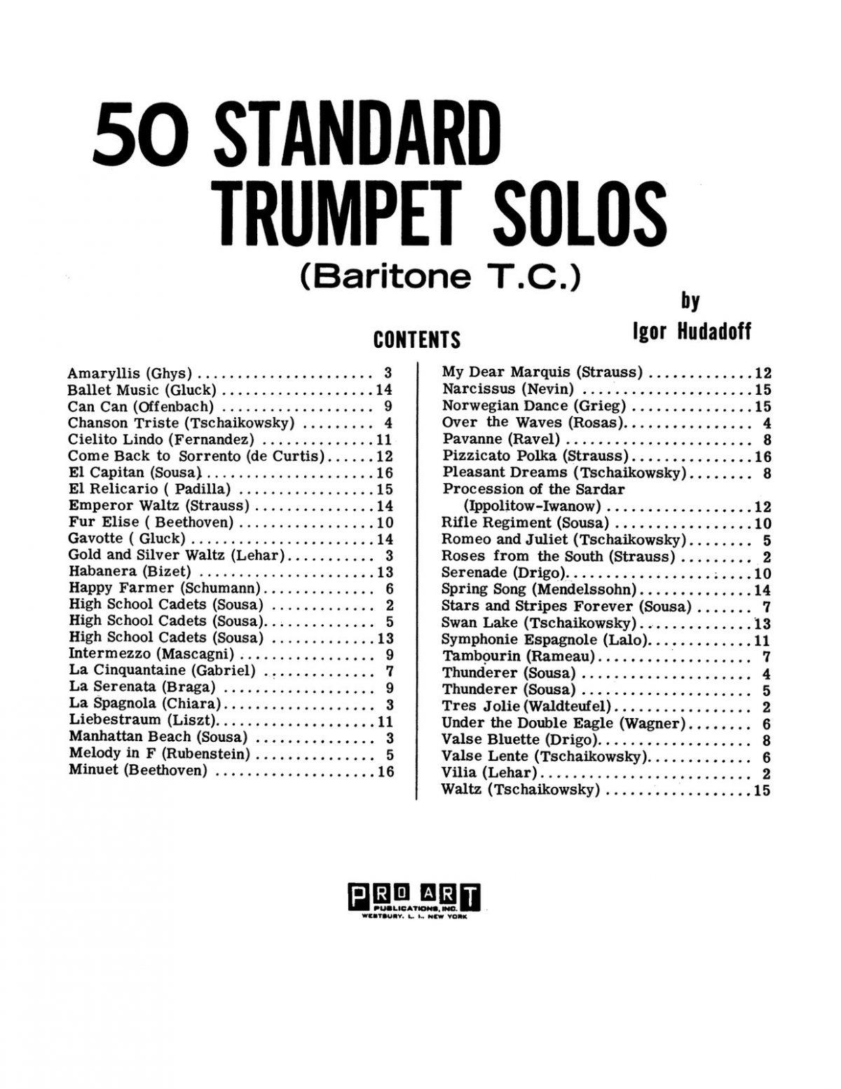 Hudadoff, 50 Standard Trumpet Solos-p05