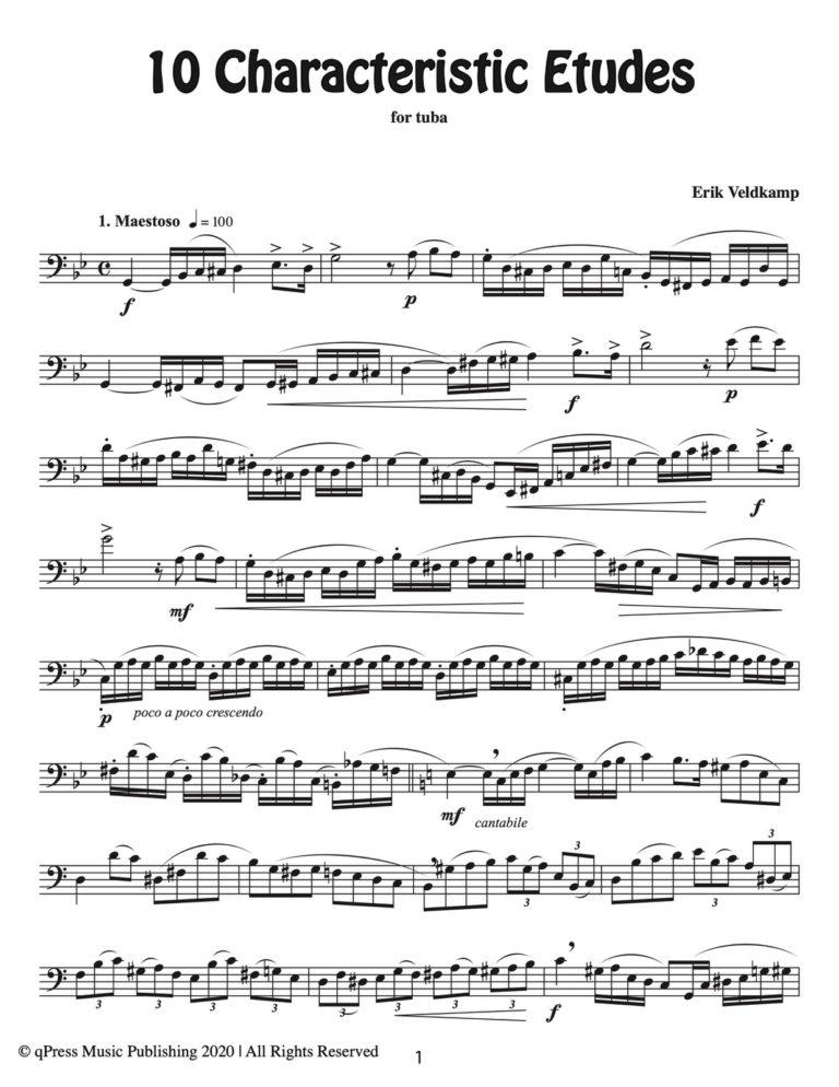 10 Characteristic Studies for Tuba