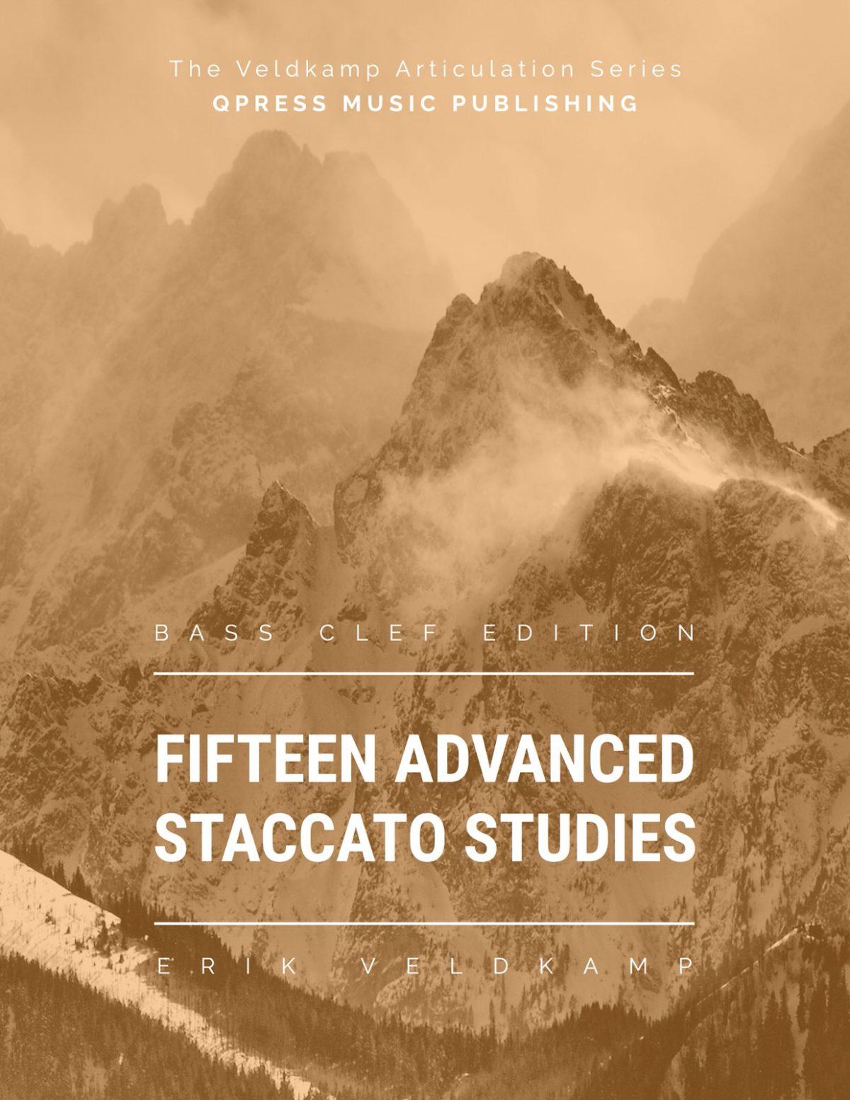 Veldkamp, 15 Advanced Staccato Studies in Bass Clef-p01