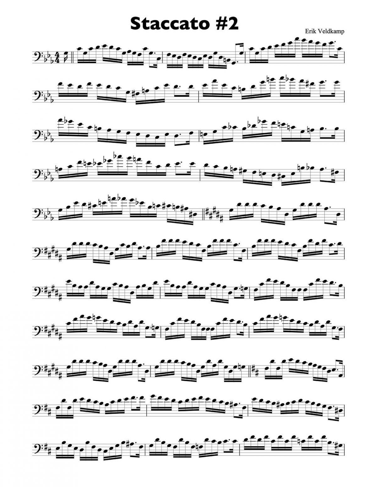 Veldkamp, 15 Advanced Staccato Studies in Bass Clef-p04