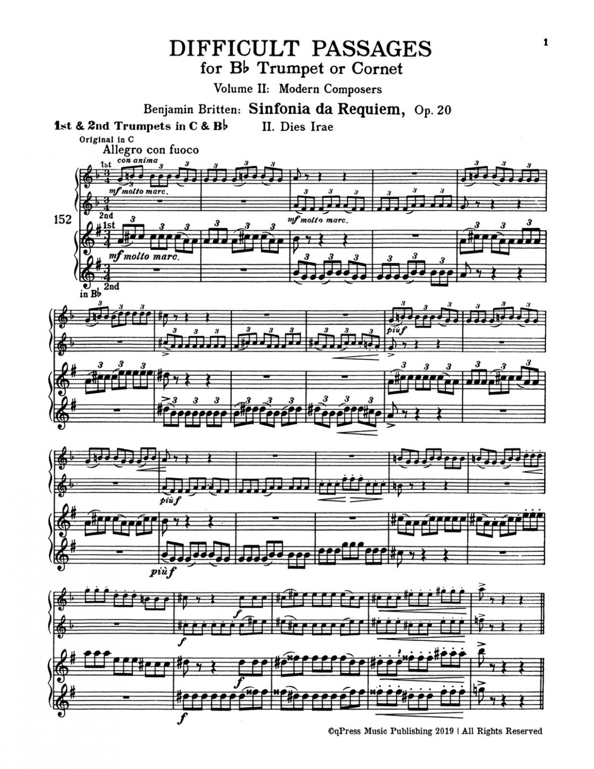 Hall, Difficult Passages for Trumpet or Cornet in Bb Vol 2-p05