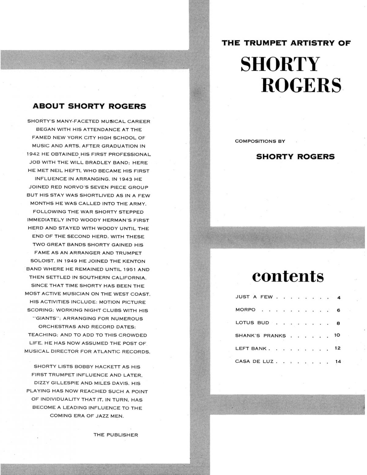 Rogers, The Trumpet Artistry of Shorty Rogers