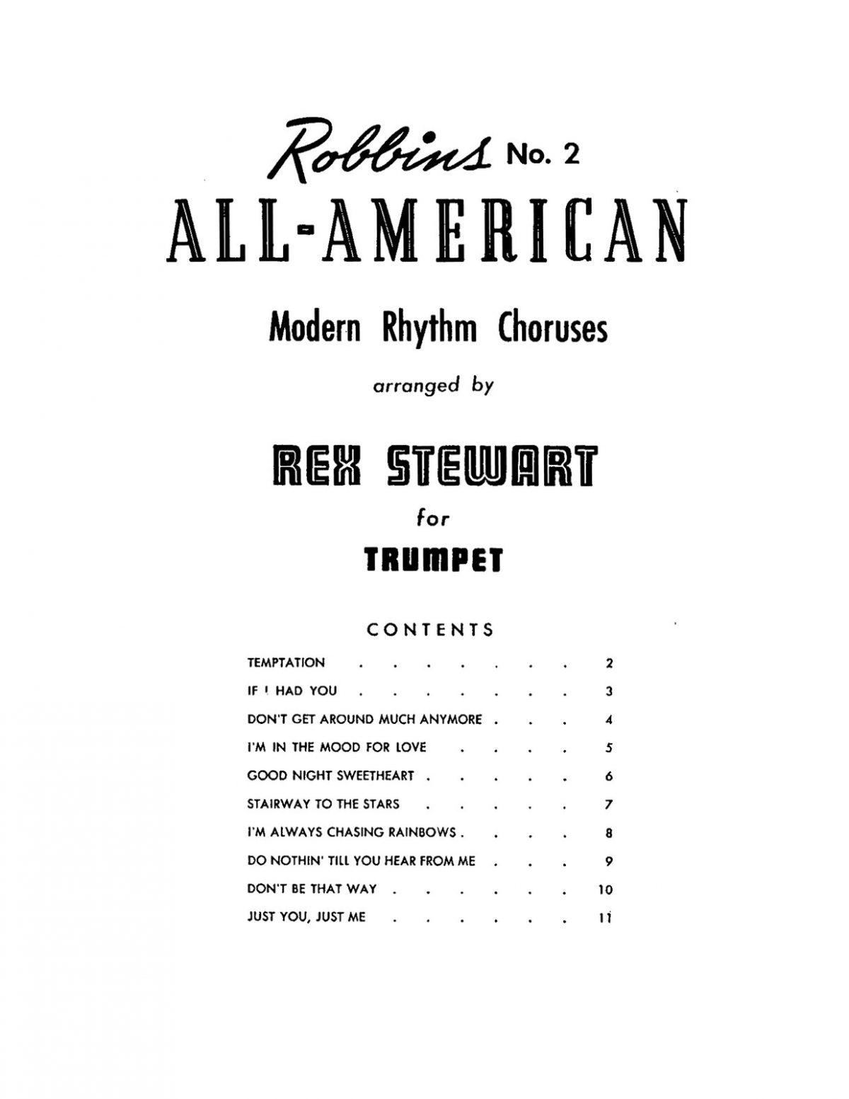 Stewart Rex, All American Modern Rhythm Choruses for Trumpet-p03