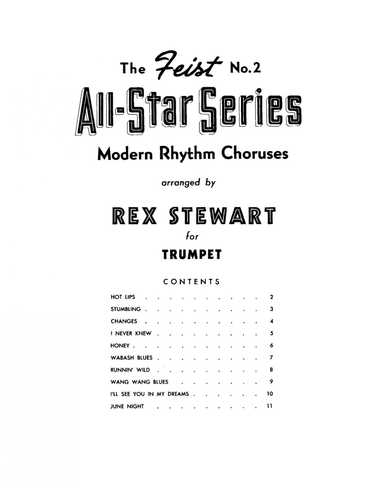Stewart Rex, All Star Series Modern Rhythm Choruses for Trumpet-p03