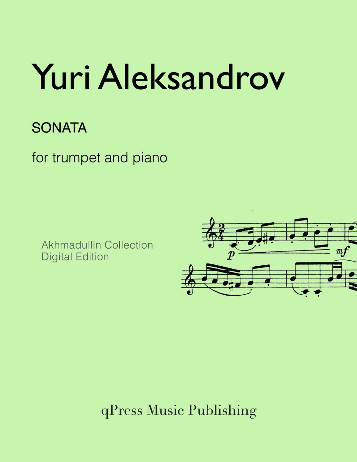 Aleksandrov, Sonata (Score and Part)-p01