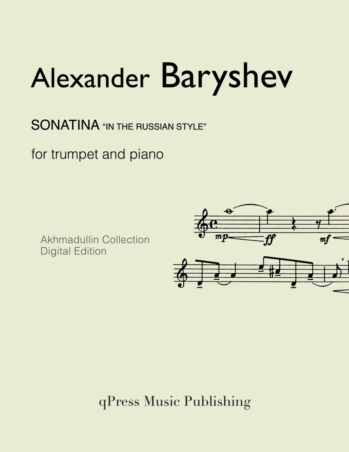 Baryshev, Sonatina in the Russian Style (Score and Part)-p01