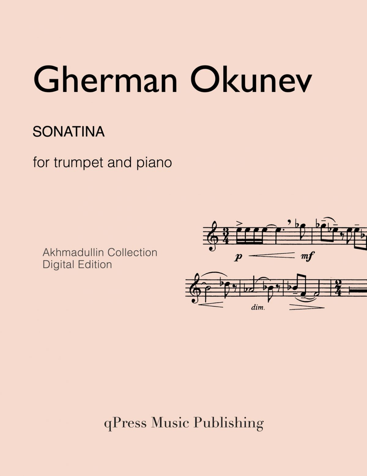 Okunev, Sonatina (Score and Part)-p01