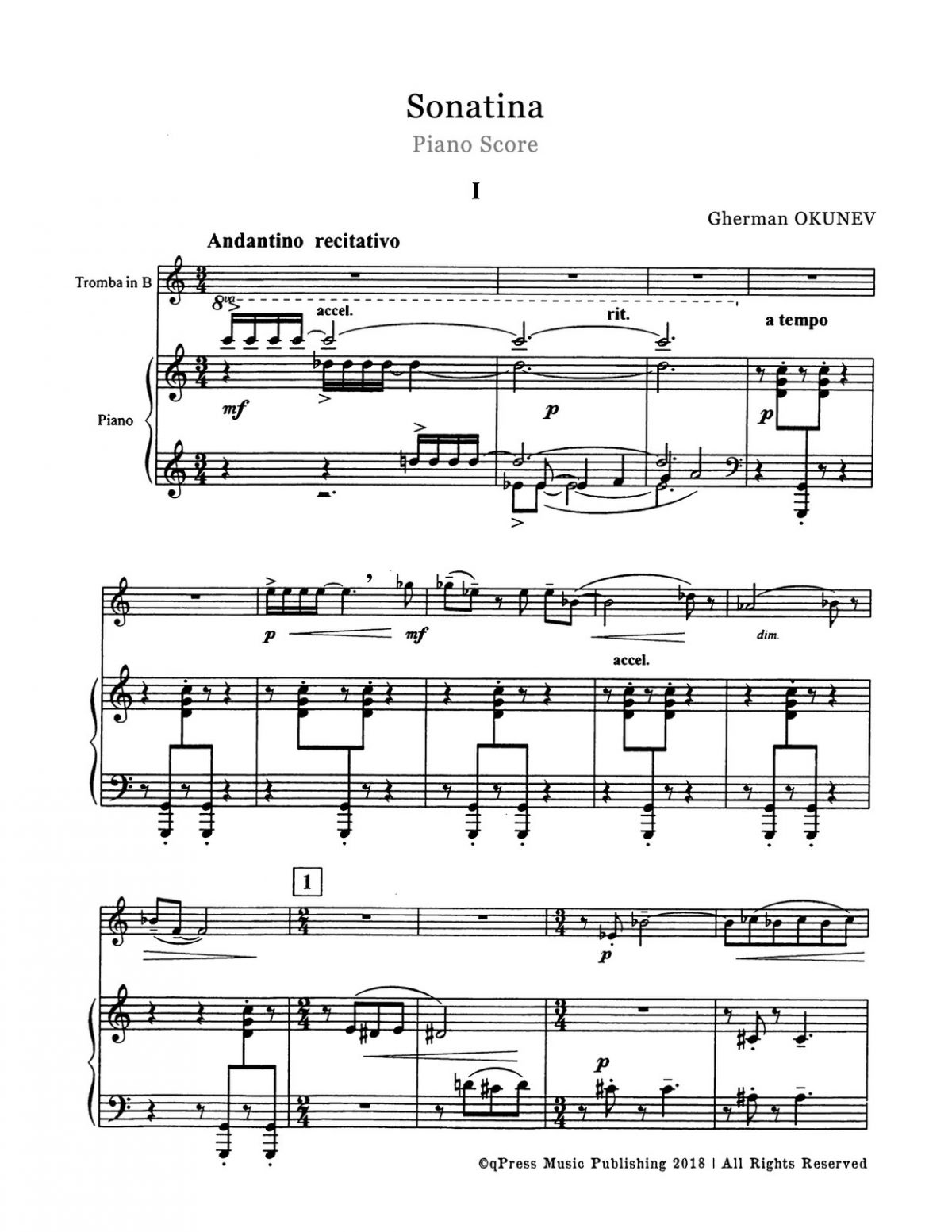 Okunev, Sonatina (Score and Part)-p09