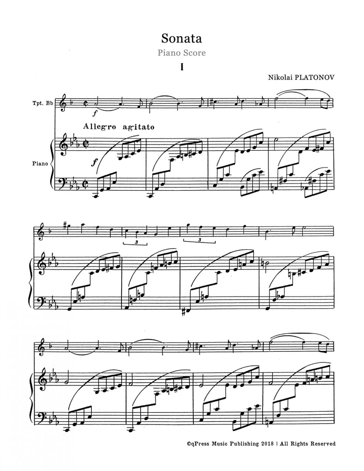 Platonov, Sonata (Score and Part)-p10