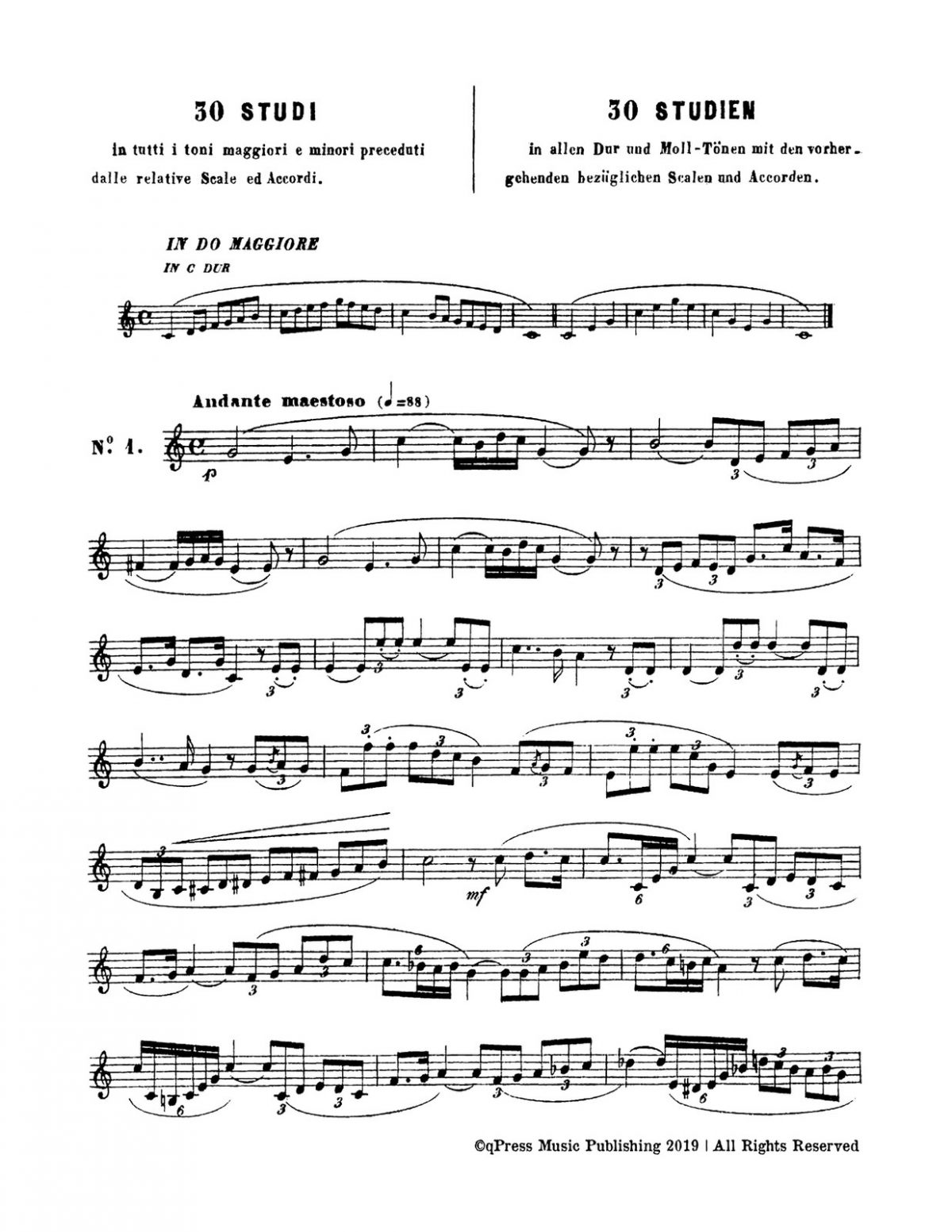 Vecchietti, 30 Studies for Horn-p02