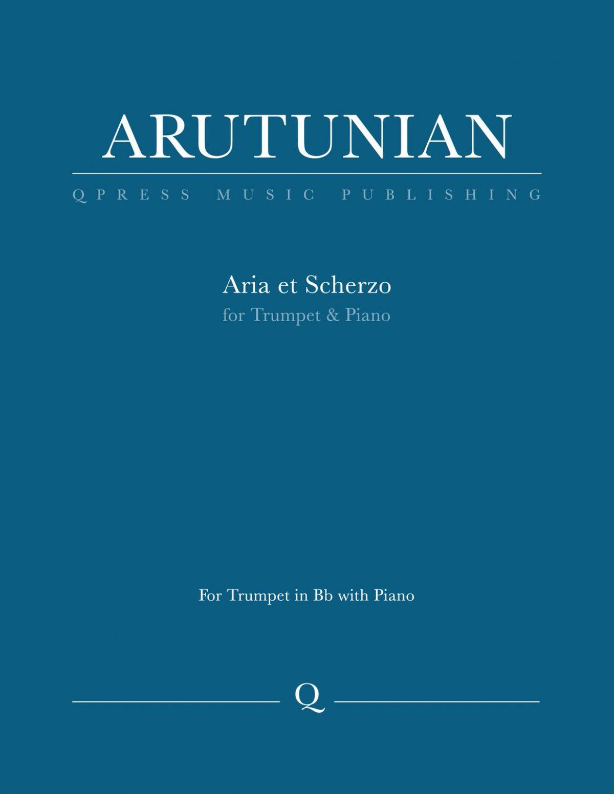 Arutunian, Aria et Scherzo-p01