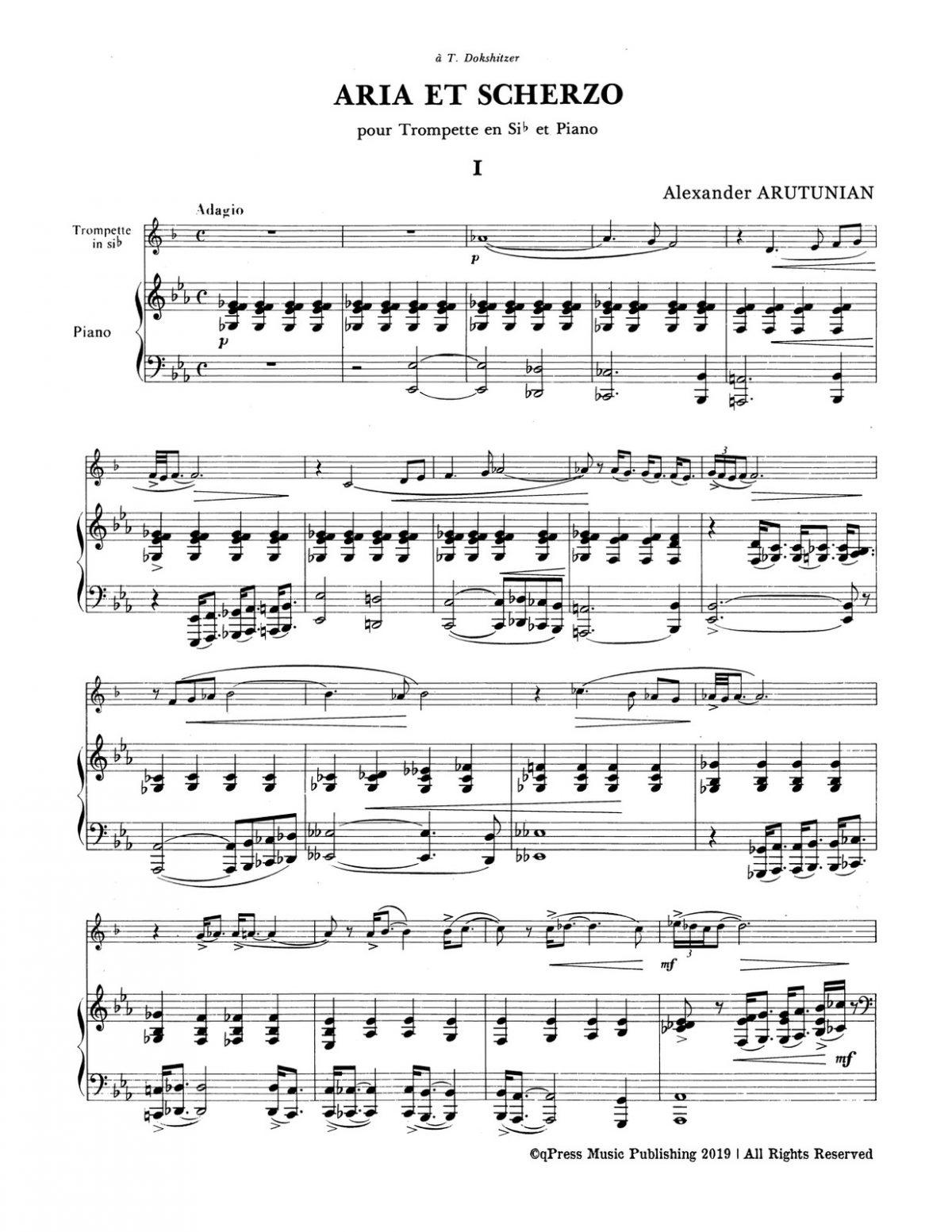 Arutunian, Aria et Scherzo-p07