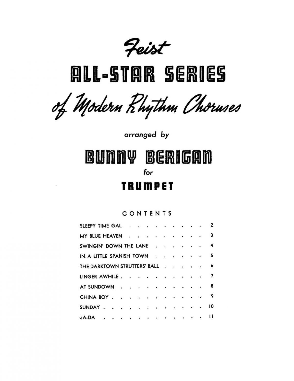 Berigan, All Star Series of Modern Rhythm Choruses-p05
