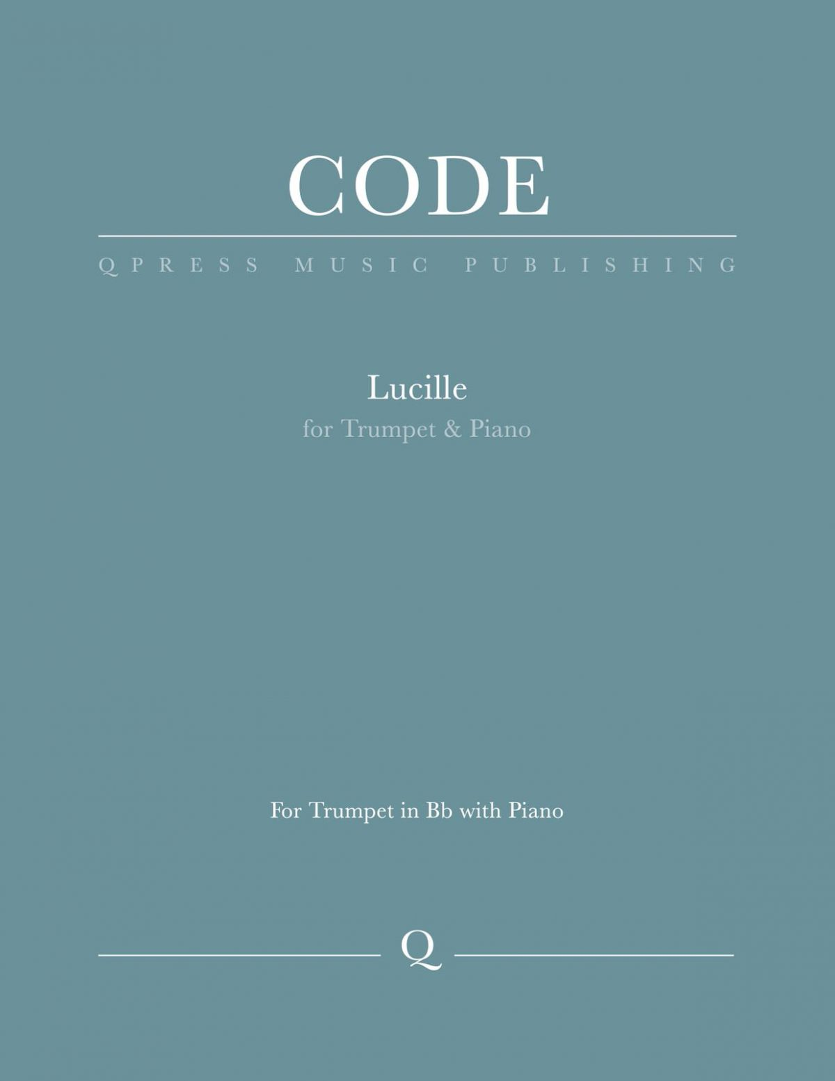 Code, Lucille for Bb Trumpet and Piano-p01