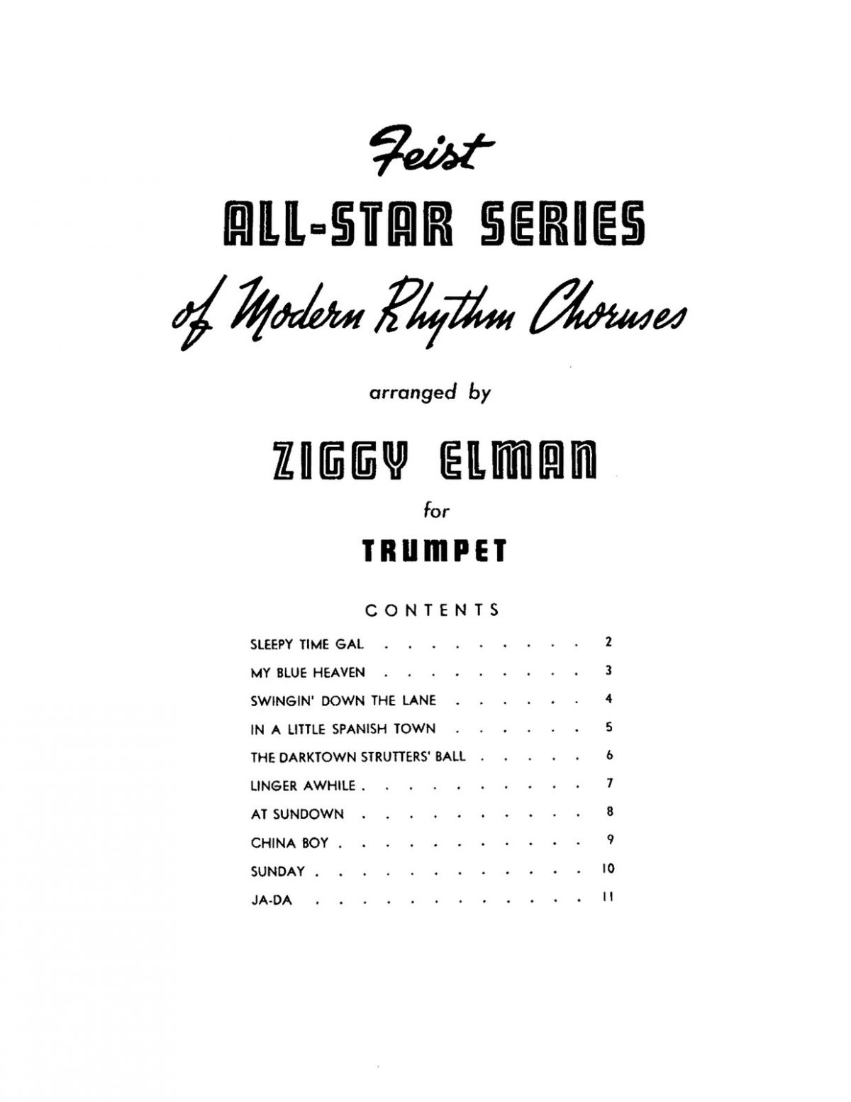 Elman, All Star Series Modern Rhythm Choruses for Trumpet-p03