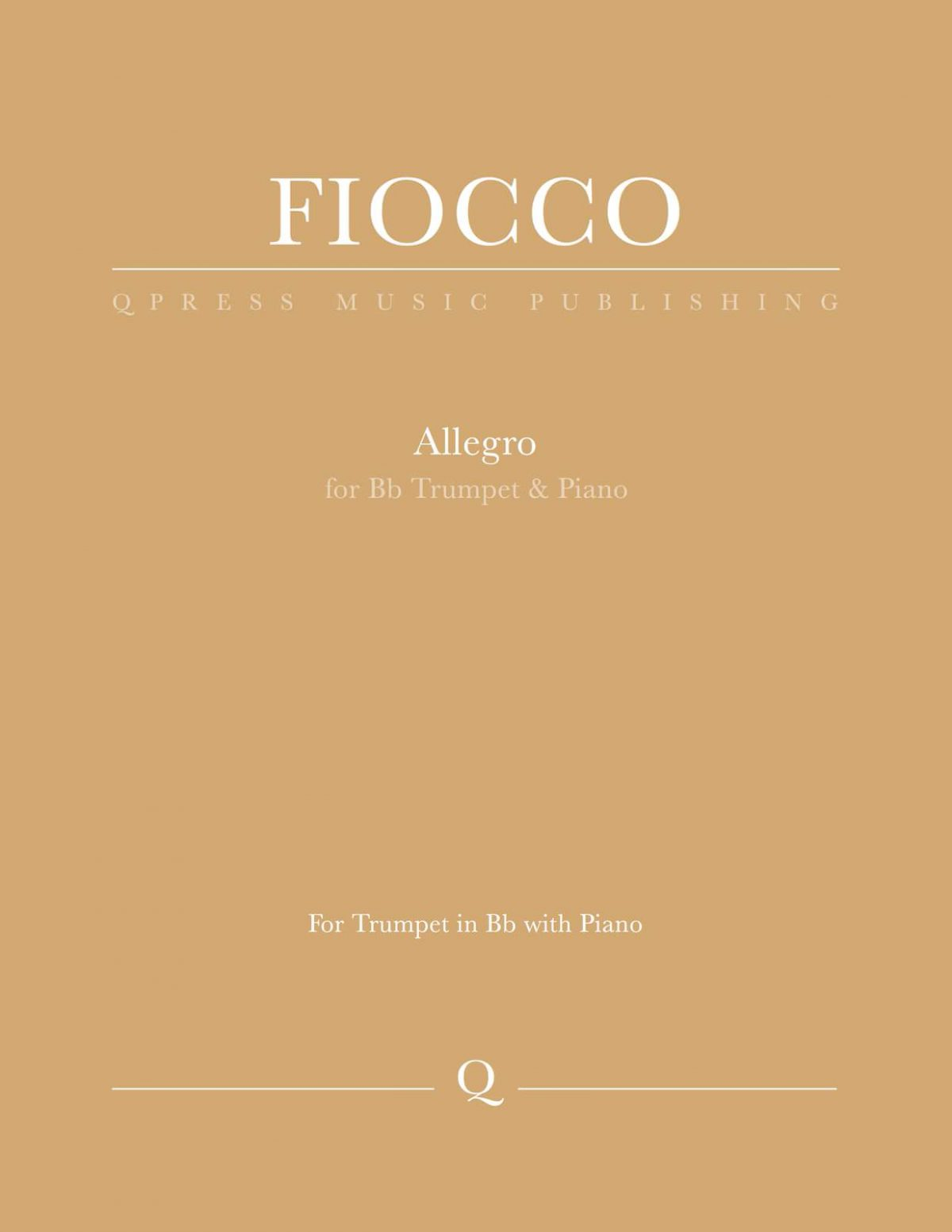Fiocco, Allegro for Bb Trumpet and Piano-p1