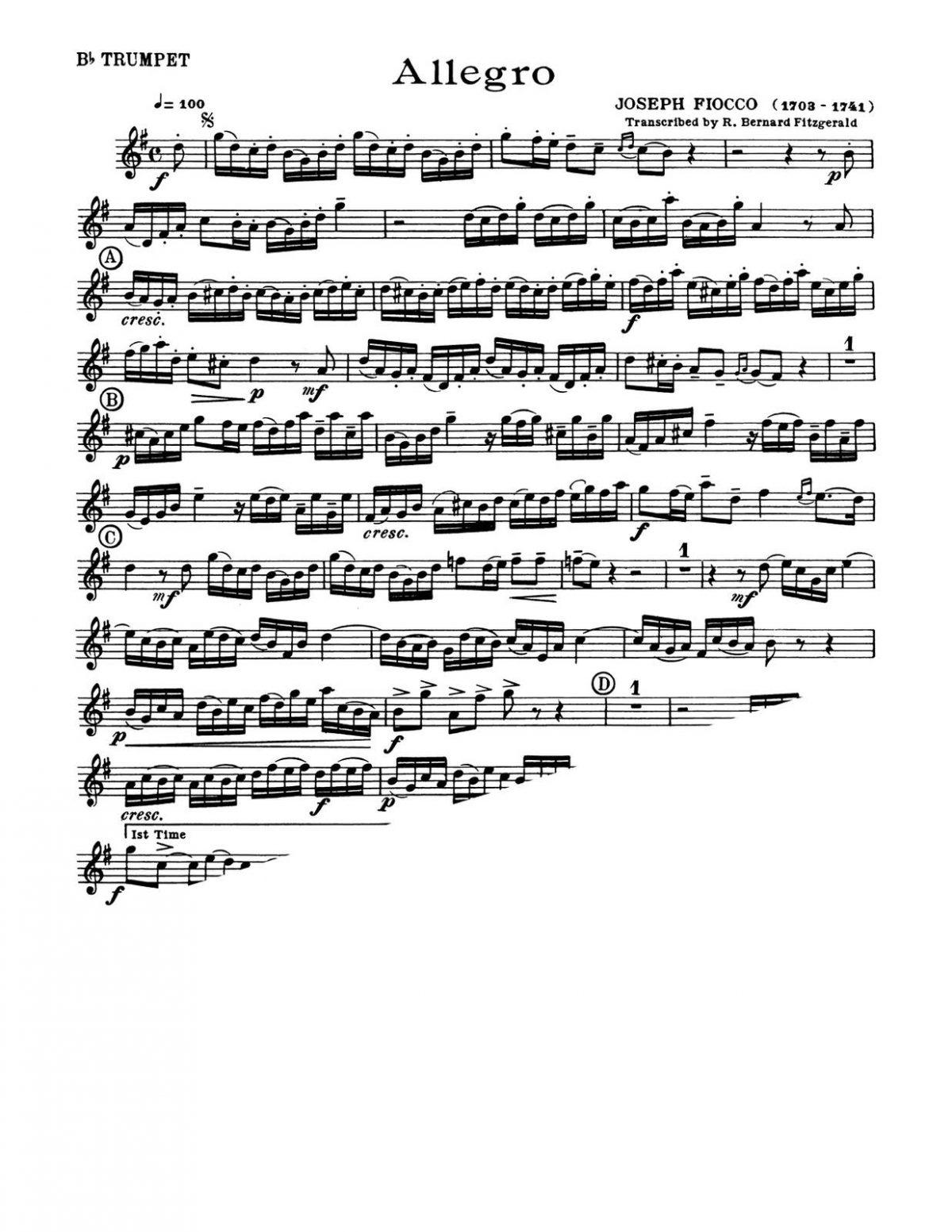 Fiocco, Allegro for Bb Trumpet and Piano-p2