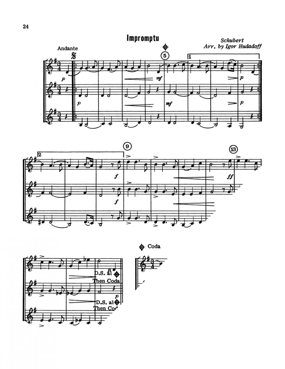 Hudadoff, 24 Trumpet Trios-p26