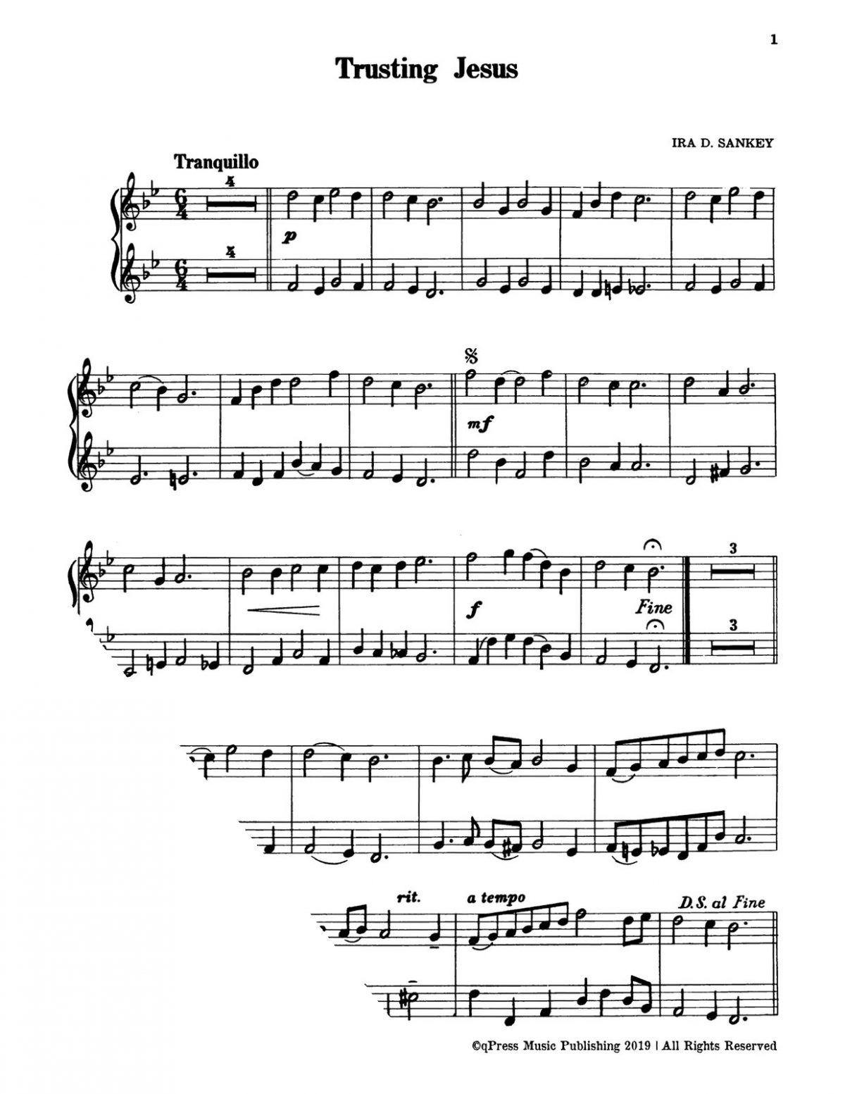 Snyder, Gospel Duets for the Trumpet with Piano Accompaniment-p07