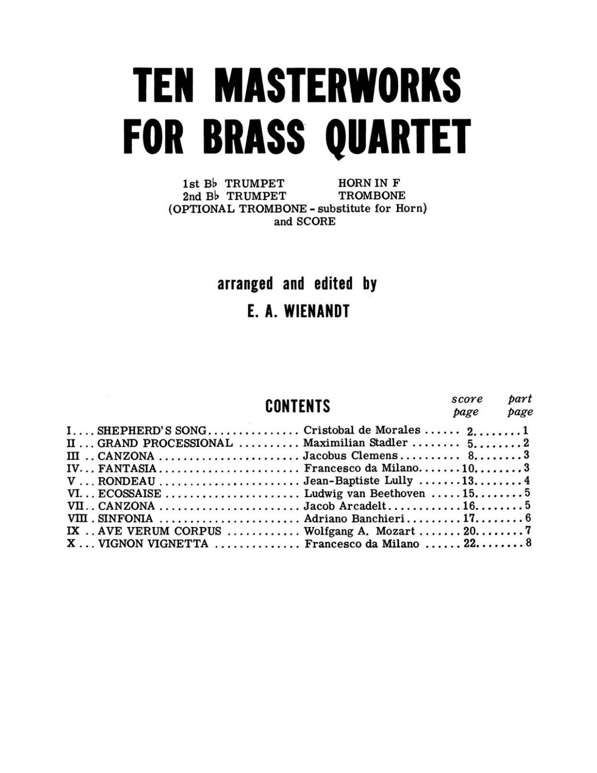Wienandt, Ten Masterworks for Brass Quartet-p03