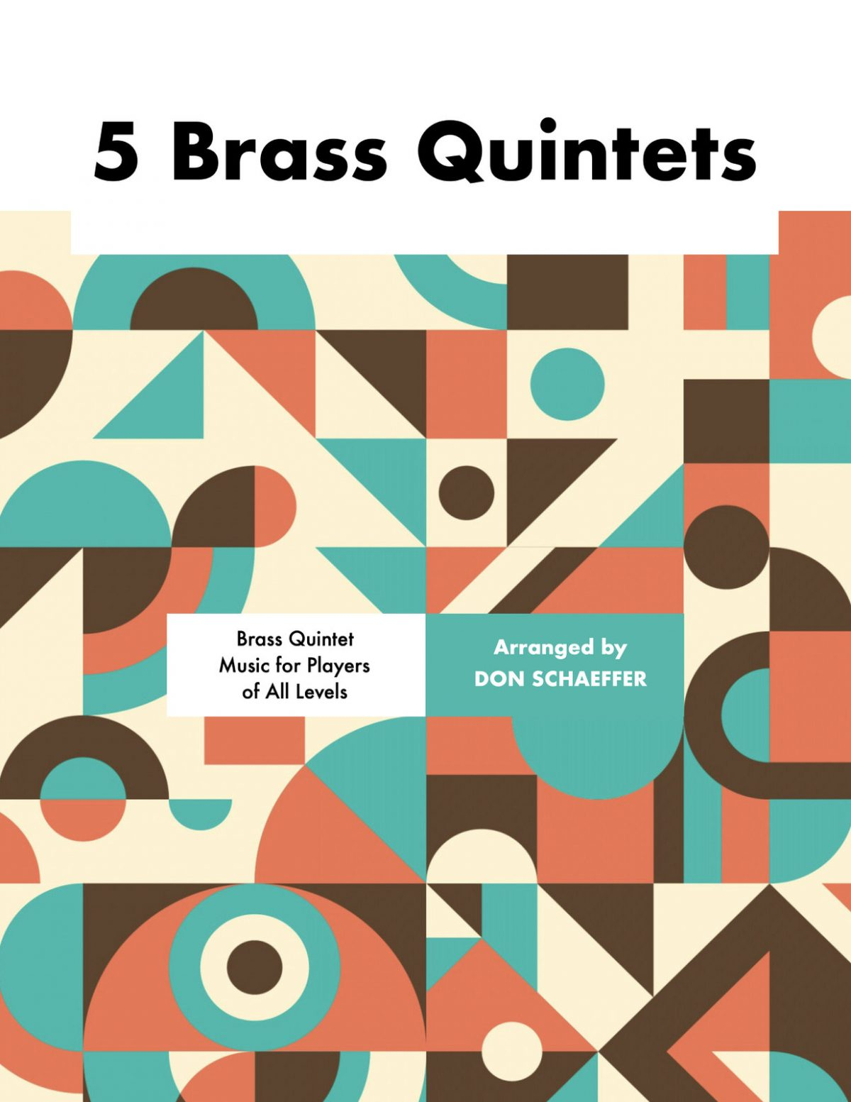 Schaeffer, Five Brass Quintets (Score & Parts)-p01