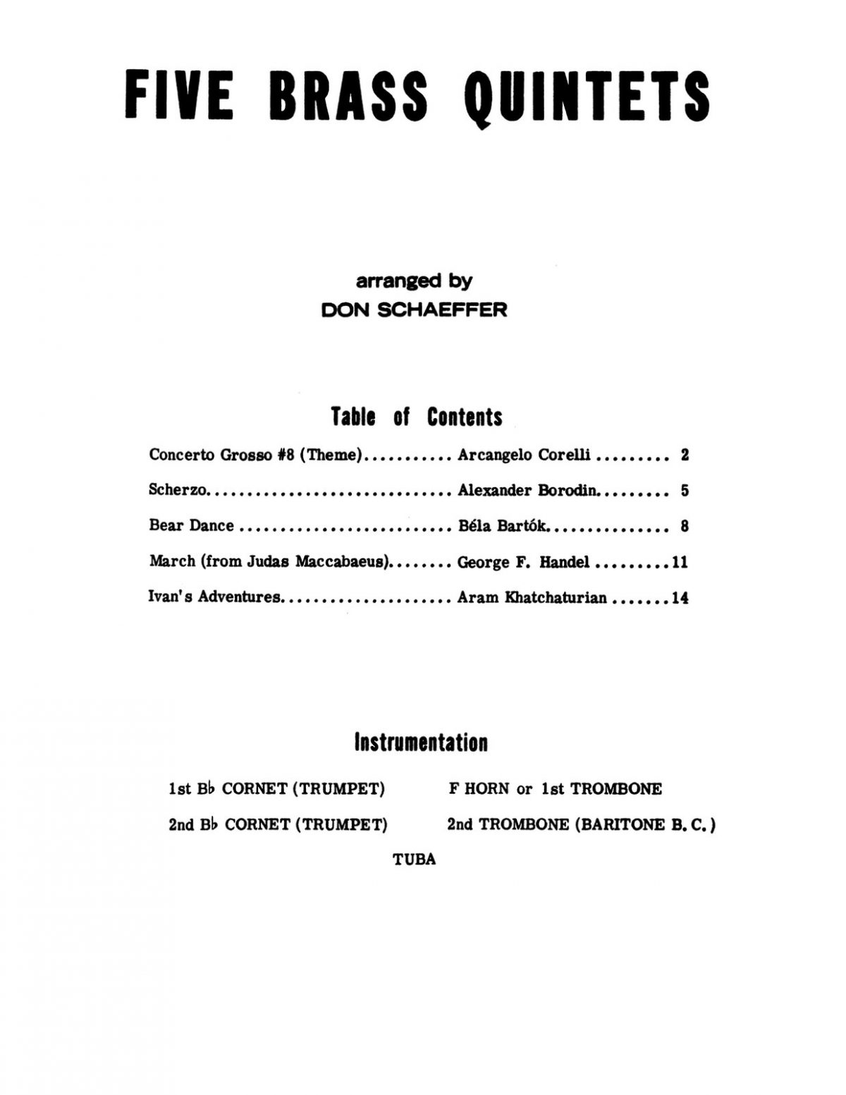 Schaeffer, Five Brass Quintets (Score & Parts)-p03