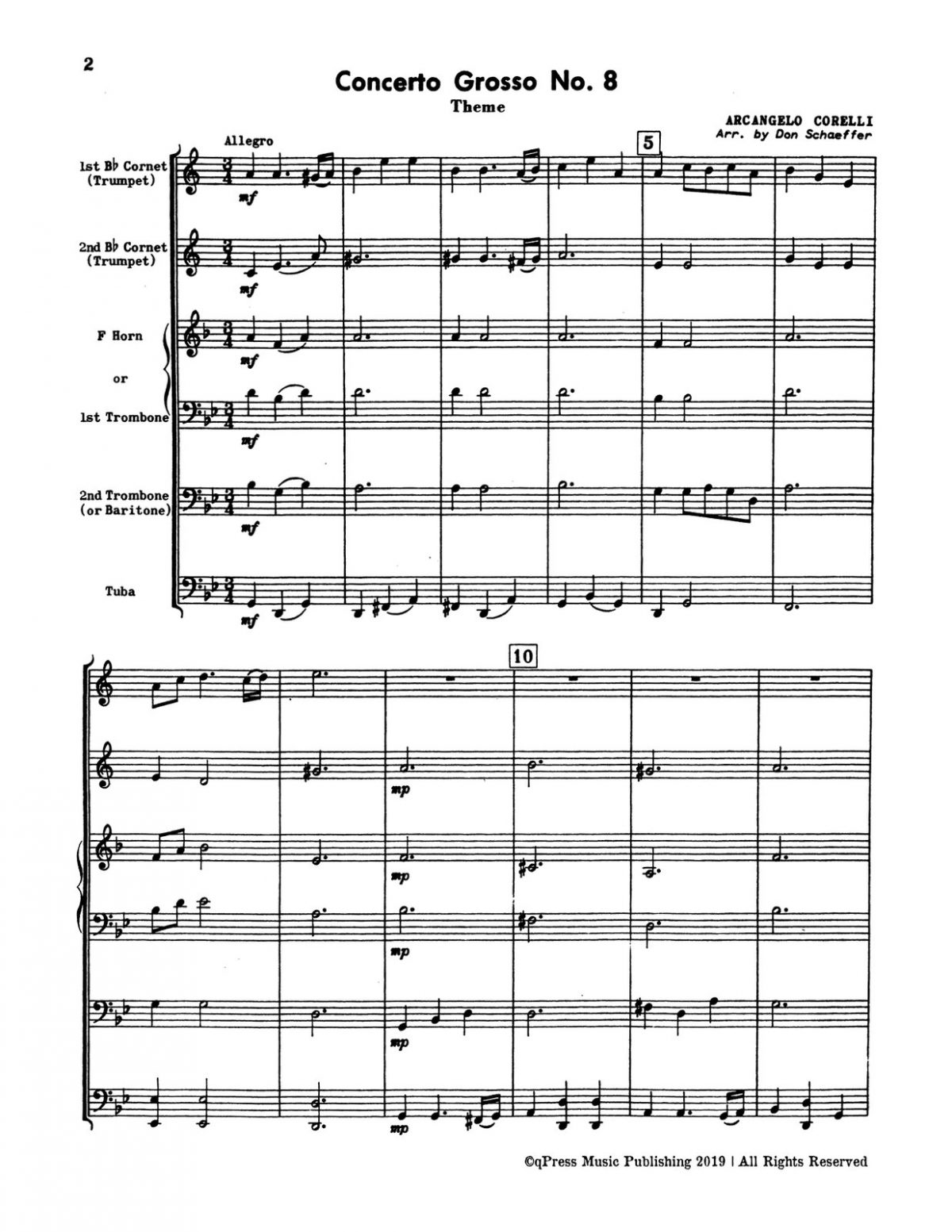Schaeffer, Five Brass Quintets (Score & Parts)-p04