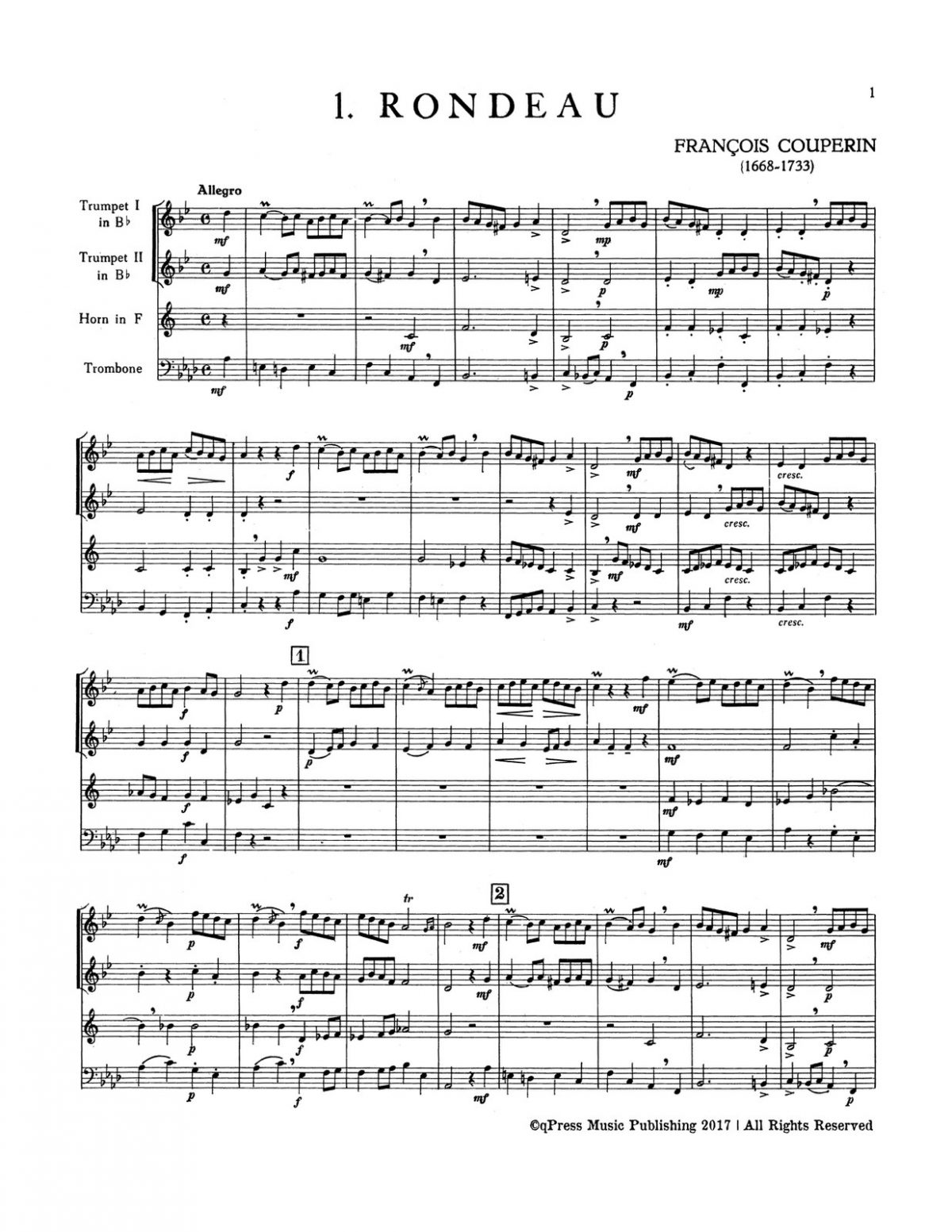 Various, Four French Pieces for Brass Quartet-p03