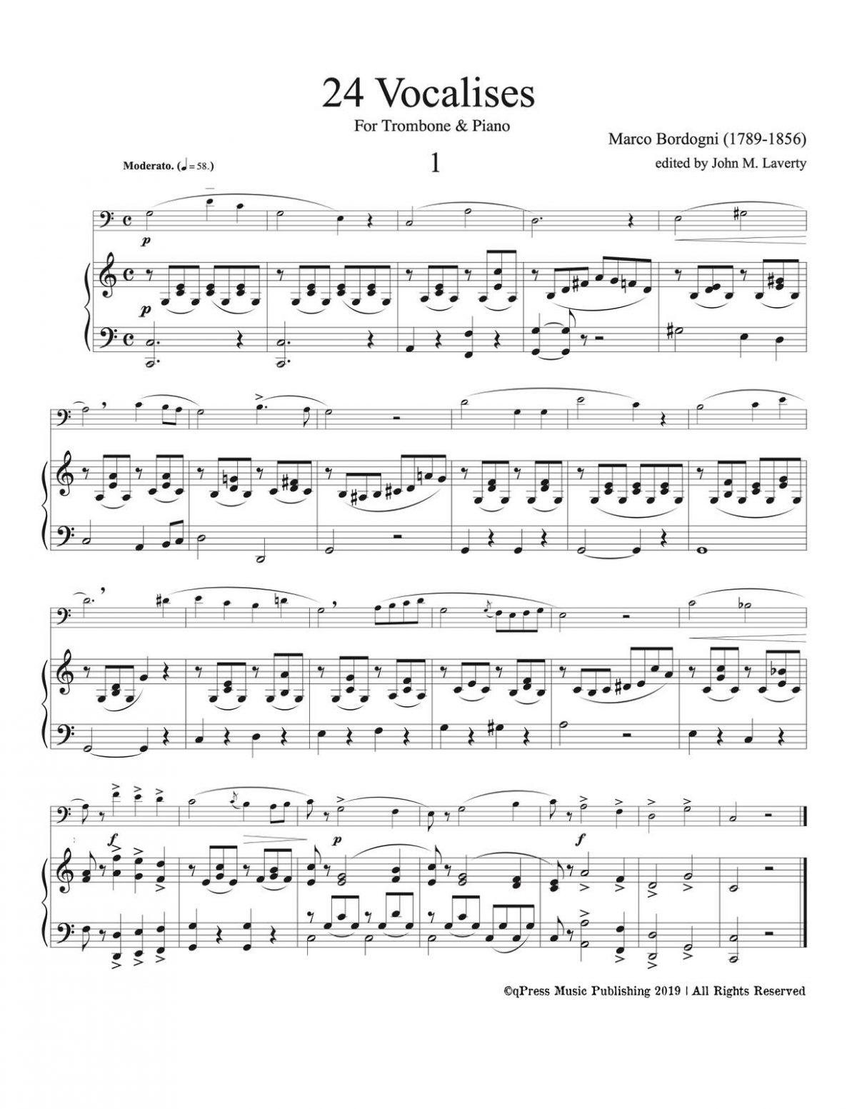 Bordogni, 24 Vocalises (Trombone and Piano)-p35