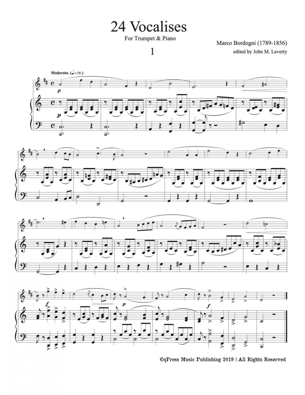 Bordogni, 24 Vocalises (Trumpet and Piano)-p35