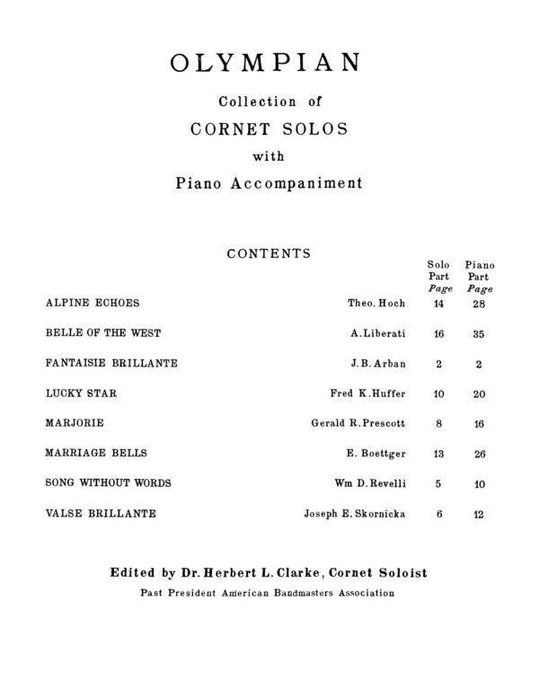 Olympian Collection of Cornet Solos