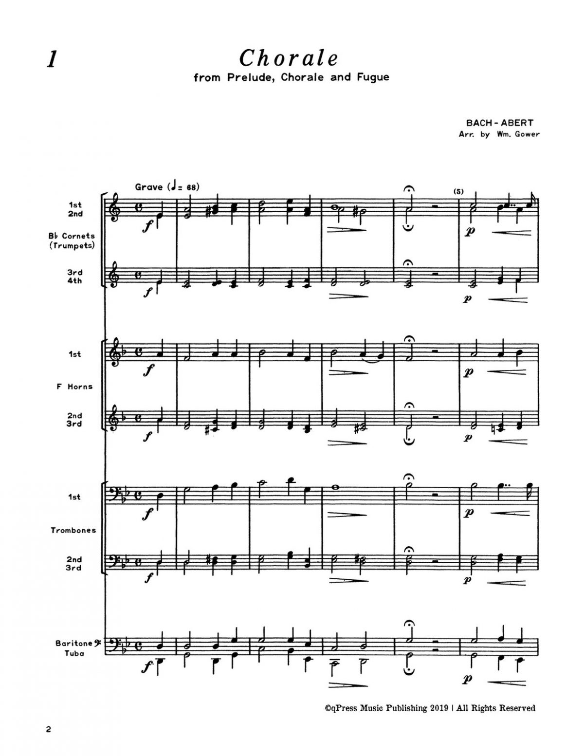 Various, Concert Repertoire for Brass Sextet (Score and Parts)-p004