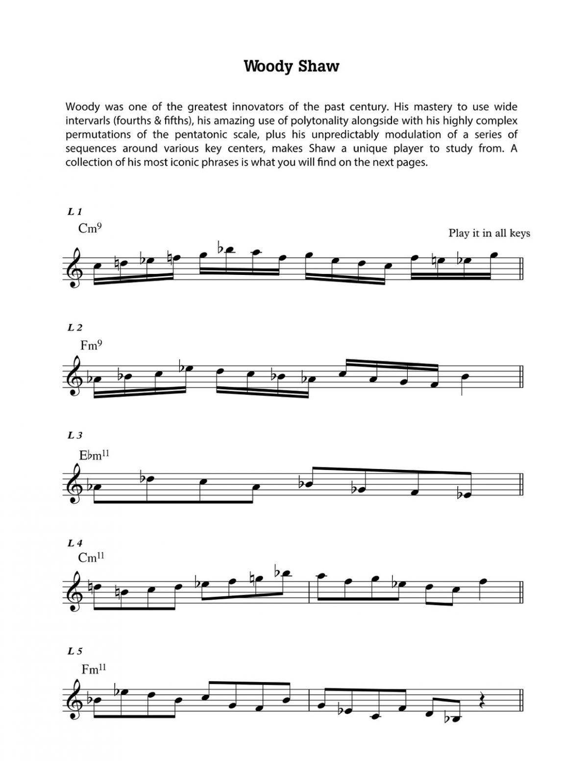 Diaz, Common Tones Sequences for Contemporary Jazz Improvisation