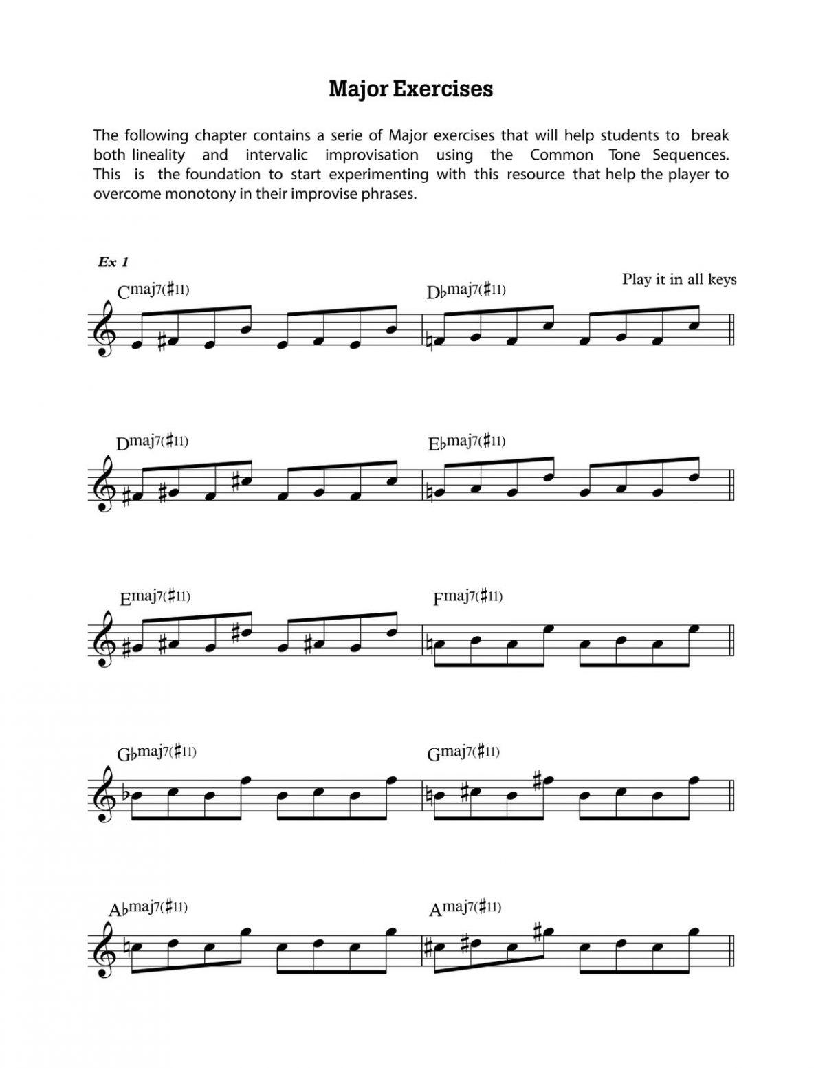 Diaz, Common Tones Sequences for Contemporary Jazz Improvisation-p019