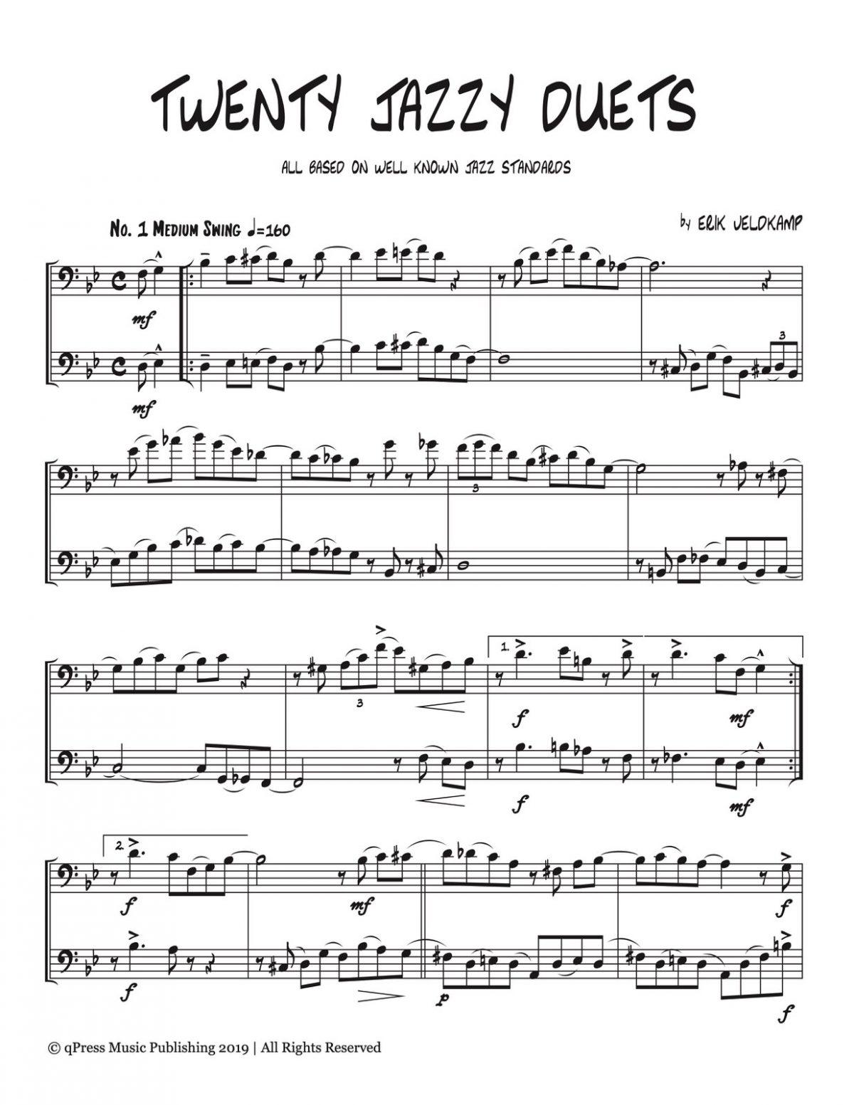 Veldkamp, 20 Jazzy Trombone Duets-p03