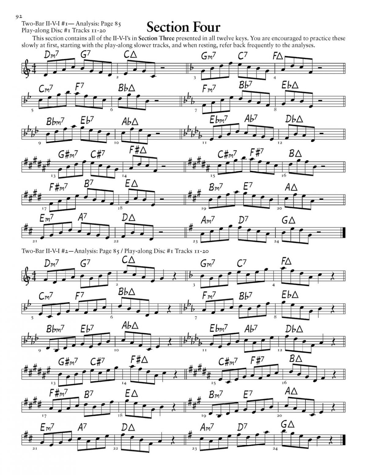 Willey, Major II-V-I in 12 Keys (Treble Clef)-p098