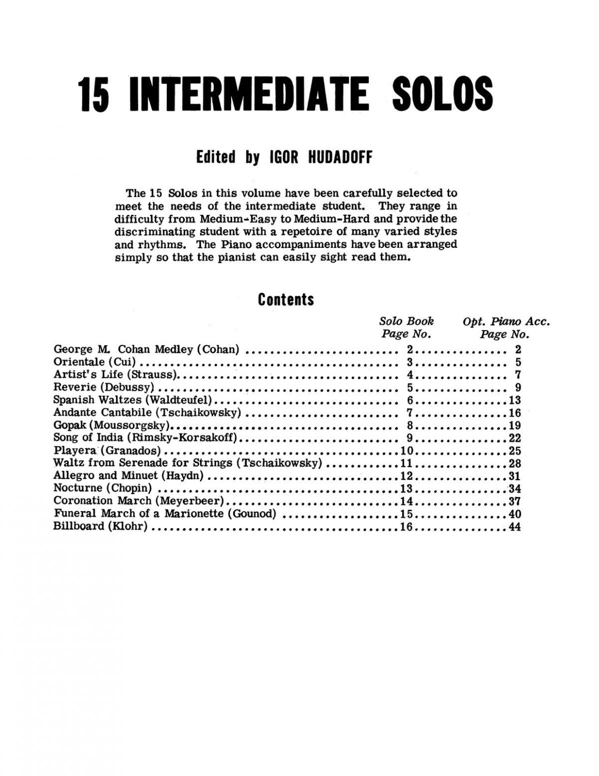 Hudadoff, 15 Intermediate Trombone Solos (Part & Score)-p03