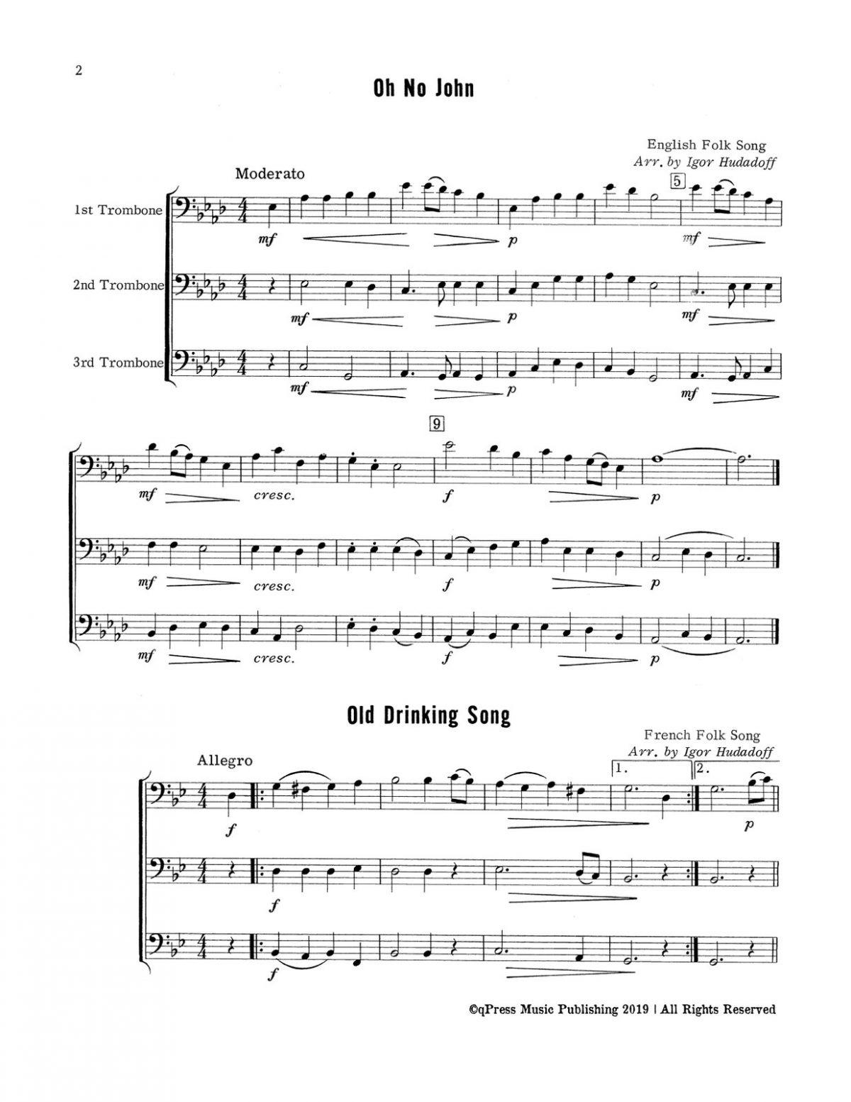 Hudadoff, 24 Trombone Trios-p04